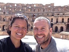 The two of us were simply astounded by El Jem Colosseum...we really enjoyed checking it out