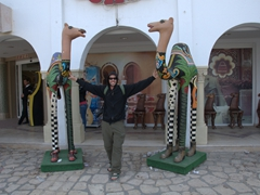 Robby and the colorful camels; Soula Shopping Center