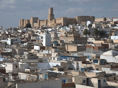 View of the Kasbah from the top of the Ribat
