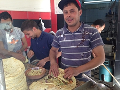 Our friendly shawarma guy