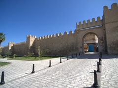Another view of Sousse's medina walls