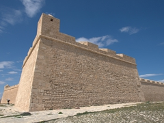 Borj el-Kebir, a large fortress at the end of the Mahdia peninsula