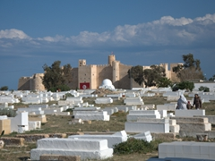 The Ribat as seen from the cemetery; Monastir