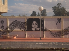 Mural at the metro station