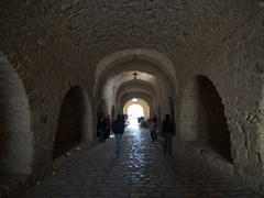 Walking through the 50 meter long Skifa el-Kahla gate of Mahdia