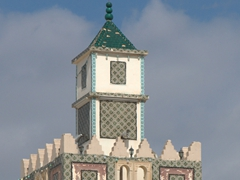 Mosque minaret in the medina