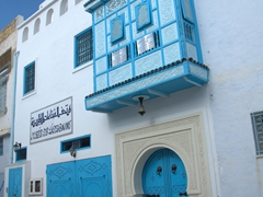 Picturesque balcony in the medina