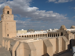 View of the Great Mosque (while standing on a nearby roof)