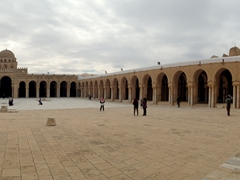 Panoramic view of the Great Mosque courtyard