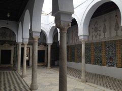 The intricate passageway leading to the Mosque of the Barber