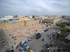 View of Place des Martyrs from the top of Hotel Sabra