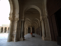 Arched colonnade of the Great Mosque