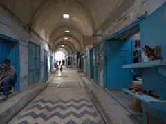 Covered souq in the medina
