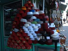 Felt hats for sale at the Grand Souq des Chechias