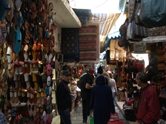 Running the gauntlet of souvenir stalls on Rue de la Kasbah