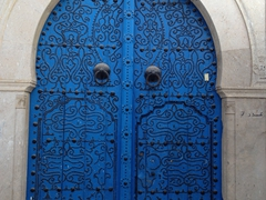 One of the fancier doors we spied in Tunis