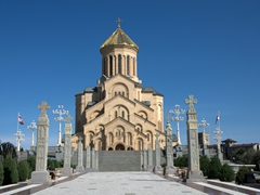 Sameba (also known as the Holy Trinity Cathedral of Tbilisi) was built in 2004. It is the third tallest Eastern Orthodox church in the world