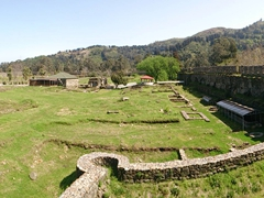 View of Gonio Fortress (an old Roman fortification)