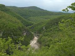 Gorgeous terrain on our drive to Motsameta Monastery