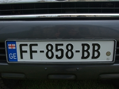 Georgian license plate