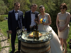 Wedding crashers! We were invited by this lovely couple to join them in celebrating their special day; Adjarian wine house