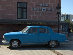 Antique car in Batumi