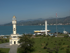 Coastal view of popular Black Sea resort town Batumi