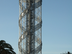 The 130 meter tall Alphabetic Tower; Batumi