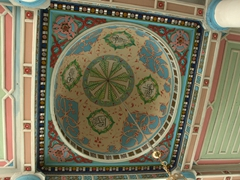 Colorful dome of Orta Mosque; Batumi