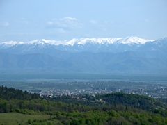 View of Kutaisi from Sataplia