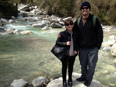 Sofi and Robby near Kinchkha Waterfall (the flowing river prevented us from hiking any further)