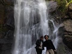 Sofi and Becky at Makhuntseti waterfall