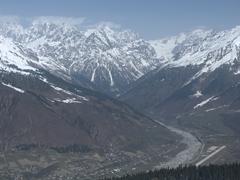 Beautiful mountain peaks in Svaneti