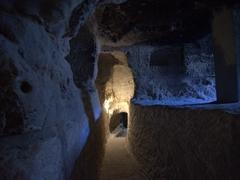 Tunnel in Vardzia cave complex