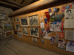 Snapshot of the Mikheil Khergiani museum, a Svan mountain climbing legend