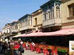 Restaurant row in a scenic section of Tbilisi