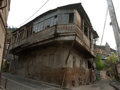 Ramshackle building in Tbilisi