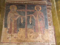 Beautiful frescoes; Svetitskhoveli Cathedral