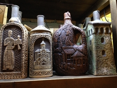 Souvenir wine bottles