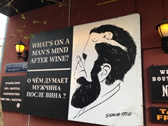 One of Tbilisi's many wine adverts