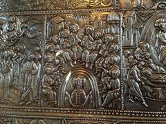 Silver detail inside Svetitskhoveli Cathedral