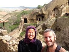 Exploring Lavra monastery; David Gareja