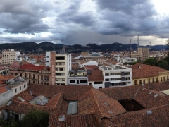 Panoramic view from the livingroom of our apartment; Cuenca
