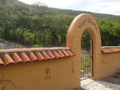 Entrance to the Yoga Shala where we were able to do a few free yoga session during our stay at Hosteria Izhcayluma in Vilcabamba