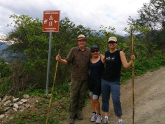 Bob, Ann and Becky stop for a quick breather during our three-hour hike around Vilcabamba
