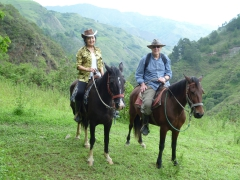 Ann and Bob enjoy an amazing 5 hours of horse riding in the mountains around Vilcabamba