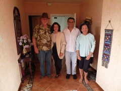 Bob, Yalena, Rene and Ann saying goodbye at our apartment in Cuenca
