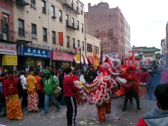 Chinese New Year street performance; Boston, MA