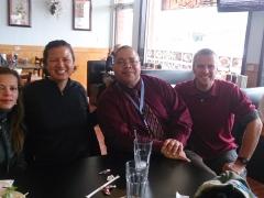 Brenda, Becky, Derek, and Robby enjoying some Pho at a Vietnamese place; Falls Church, VA