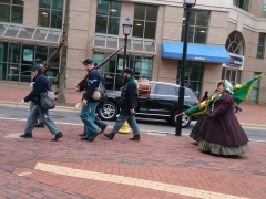 Performers for St Patrick's Day parade; Alexandria, VA